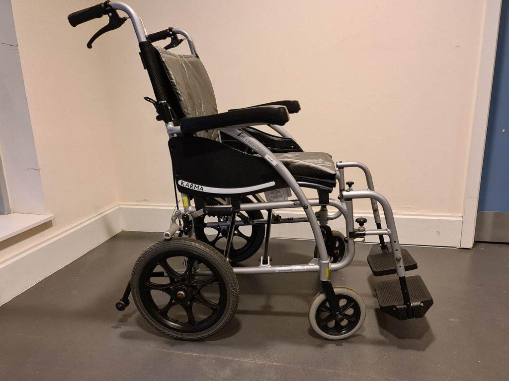 Manual wheelchair side